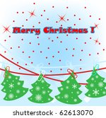 vector christmas tree made from ... | Shutterstock .eps vector #62613070