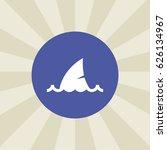 shark icon. sign design....