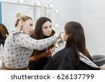 professional makeup teacher... | Shutterstock . vector #626137799