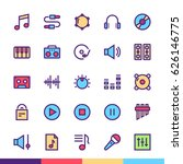 music   sound minimalist and...   Shutterstock .eps vector #626146775