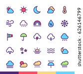 weather minimalist and modern... | Shutterstock .eps vector #626146799