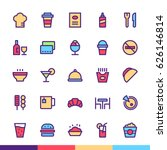 restaurant   food minimalist... | Shutterstock .eps vector #626146814