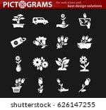 flower vector icons for user...   Shutterstock .eps vector #626147255