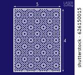 laser cut vector panel  islamic ... | Shutterstock .eps vector #626150015