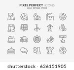 thin line icons set of heavy... | Shutterstock .eps vector #626151905