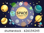 Space Elements Pack. Vector...