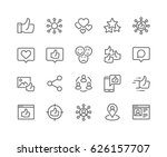 simple set of social networks... | Shutterstock .eps vector #626157707