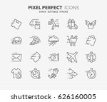 thin line icons set of fast... | Shutterstock .eps vector #626160005