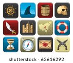 pirate icon set | Shutterstock .eps vector #62616292
