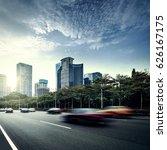the light trails on the modern... | Shutterstock . vector #626167175