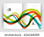 business brochure flyer... | Shutterstock .eps vector #626168285