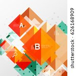 colorful triangles and squares  ...   Shutterstock .eps vector #626168909