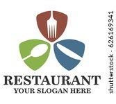 restaurant logo template   Shutterstock .eps vector #626169341
