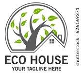 eco house logo   Shutterstock .eps vector #626169371