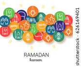 ramadan kareem background. eid...   Shutterstock .eps vector #626169401