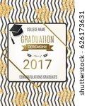 graduation ceremony design with ... | Shutterstock .eps vector #626173631