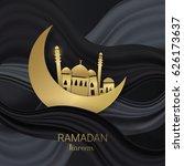 ramadan kareem background.... | Shutterstock .eps vector #626173637