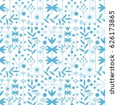 seamless vector pattern with... | Shutterstock .eps vector #626173865