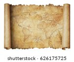 old world scroll map isolated... | Shutterstock . vector #626175725