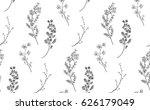 vector black decorative... | Shutterstock .eps vector #626179049