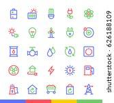 energy   ecology material... | Shutterstock .eps vector #626188109