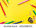 some colored pencils of... | Shutterstock . vector #626188451