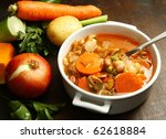 Minestrone Soup  With Fresh...