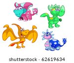 collection of cute dino's