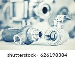 fittings and ball valve with... | Shutterstock . vector #626198384