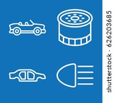 set of 4 vehicle outline icons...   Shutterstock .eps vector #626203685
