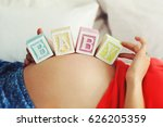 Toy Blocks With Text Baby On...