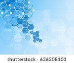 abstract molecules medical... | Shutterstock .eps vector #626208101