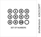 set of numbers with circle on... | Shutterstock .eps vector #626212697
