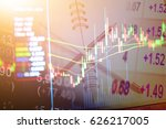 data analyzing in forex... | Shutterstock . vector #626217005