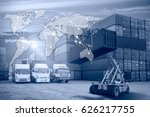 business logistics concept ... | Shutterstock . vector #626217755