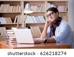 young writer working in the... | Shutterstock . vector #626218274