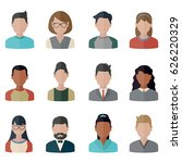 collection people icons in flat ... | Shutterstock .eps vector #626220329