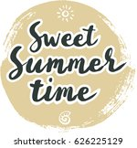 summer cards with hand drawing... | Shutterstock .eps vector #626225129