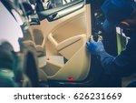 car mechanic trying to fix... | Shutterstock . vector #626231669