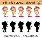 funny little girl in a hat.... | Shutterstock .eps vector #626238665