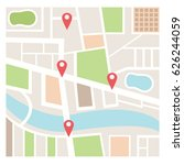 street maps and directions | Shutterstock .eps vector #626244059