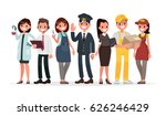 people of different professions ... | Shutterstock .eps vector #626246429