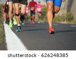 marathon running race  people...   Shutterstock . vector #626248385