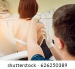 ultrasound guided platelet rich ... | Shutterstock . vector #626250389