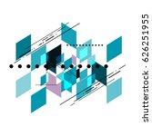vector geometric shear template ... | Shutterstock .eps vector #626251955