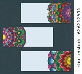 collection of colorful mandala...   Shutterstock .eps vector #626252915