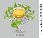 nettle tea illustration | Shutterstock .eps vector #626258384