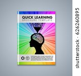 quick learning brochure or book ... | Shutterstock .eps vector #626260895