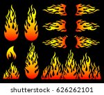 Creative Hot Fire Flame Design...