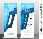 blue roll up business brochure...   Shutterstock .eps vector #626264309